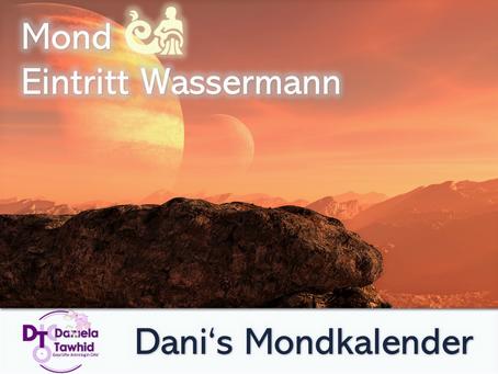Mond Eintritt Wassermann am 30.08.2020 (2:37 Uhr)
