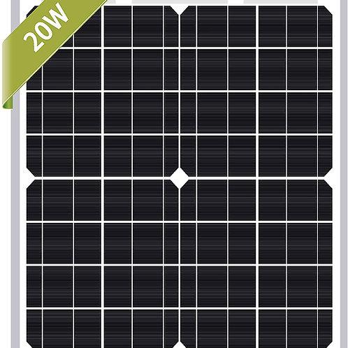 20W Newpowa (or similar) Monocrystalline Solar Pane