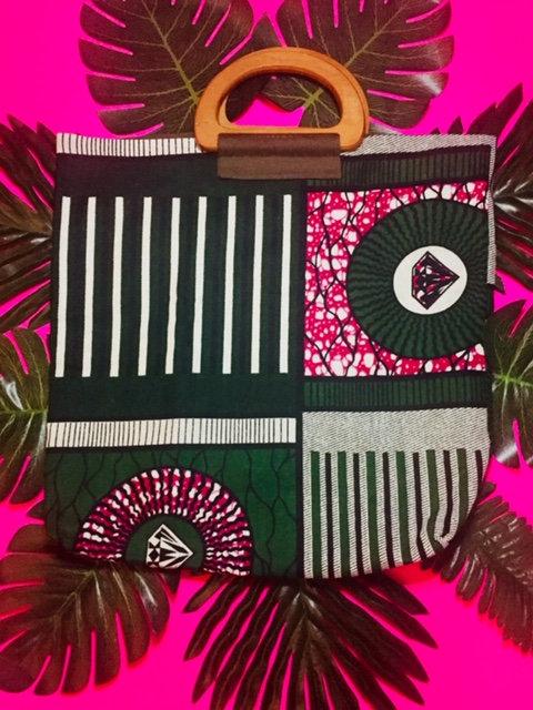 Pink/Green/White Print