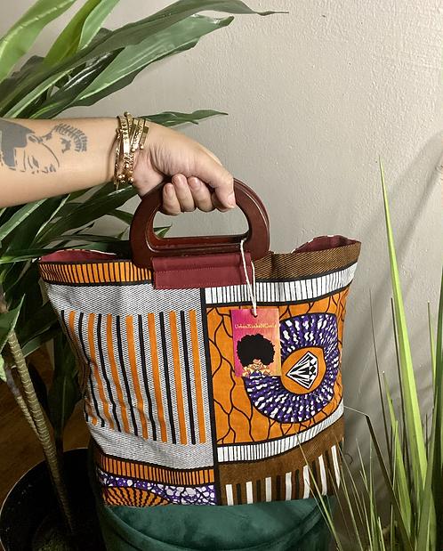 Orange/Brown/Purple Print