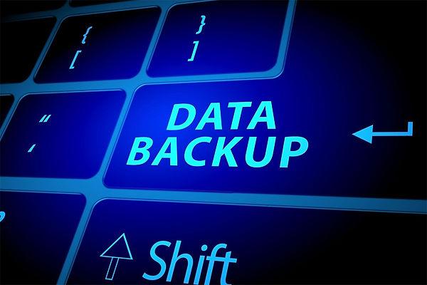 data backup on a keyboard