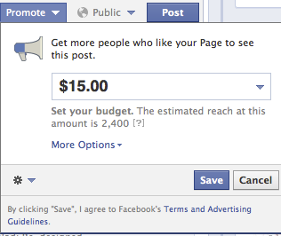Paying for Posts on Facebook