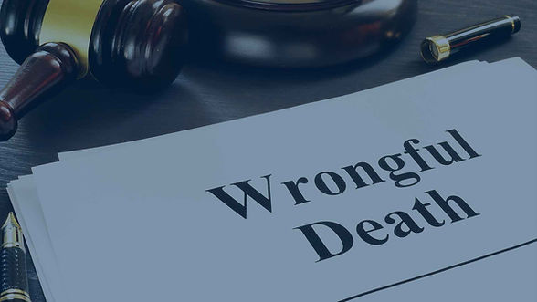 gavel next to a paper that says Wrongful Death