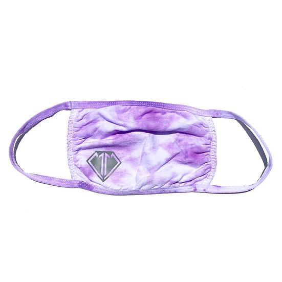 Purple Tie Dye Face Mask