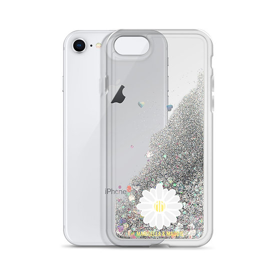 Daisy Liquid Glitter Phone Case
