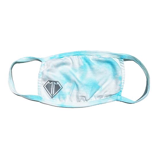Blue Tie Dye Face Mask