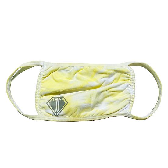 Yellow Tie Dye Face Mask
