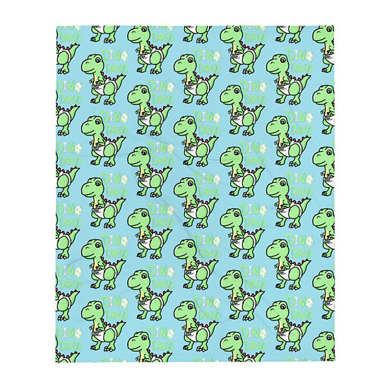 Dino David Throw Blanket