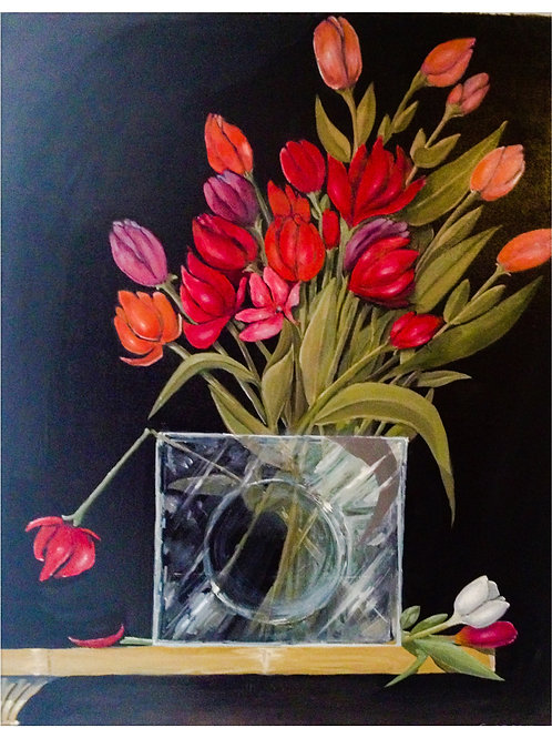 Les tulipes rouges