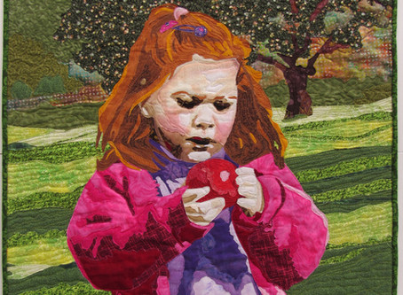 """Art Quilting - The Making of My Quilt """"Apple of My Eye"""""""