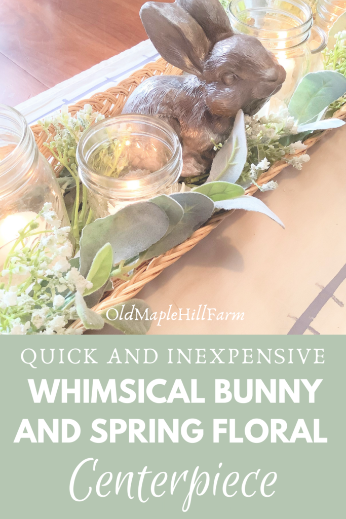 bunny spring floral centerpiece