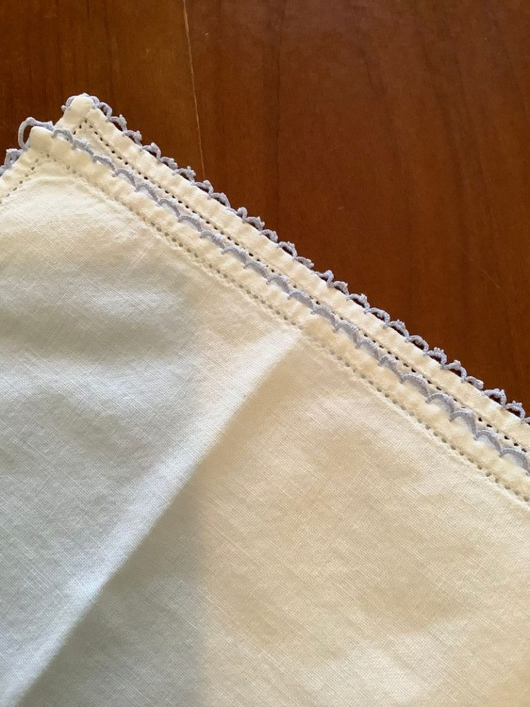 two cloth napkins on top of each other