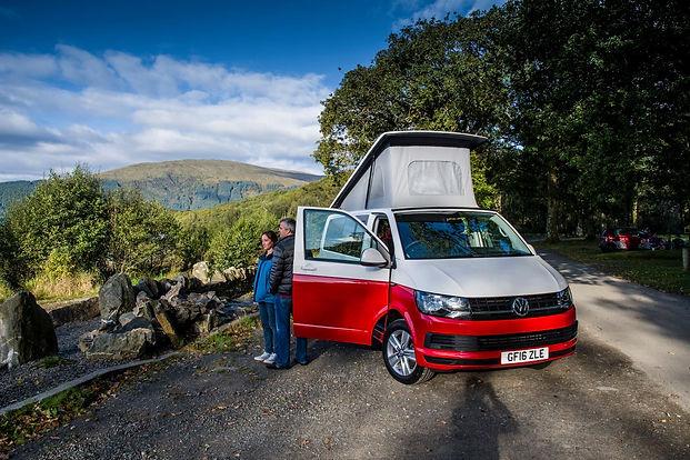 Enjoying Campervan holiday at Loch Lomond