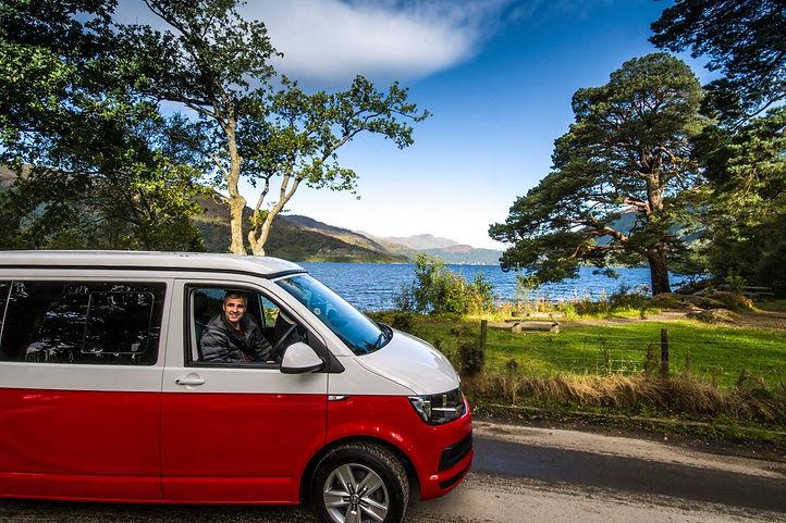 Campervan at Loch Lomond Scotland