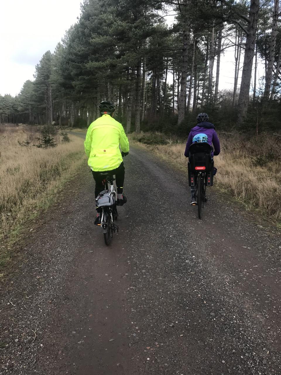 Cycling at Tensmuir