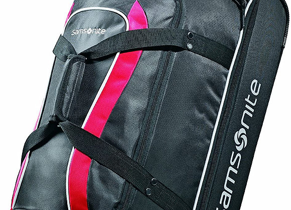 Samsonite Andante Wheeled Rolling Duffel Bag Black/Red