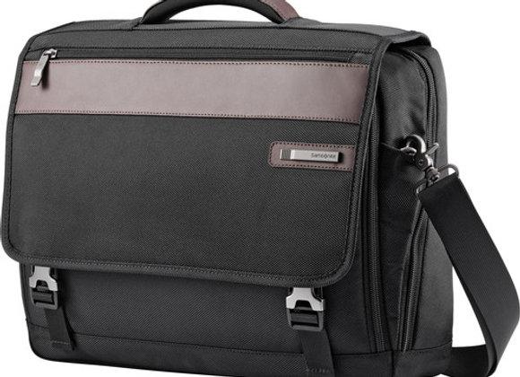 Samsonite Kombi Flapover Briefcase Black/brown