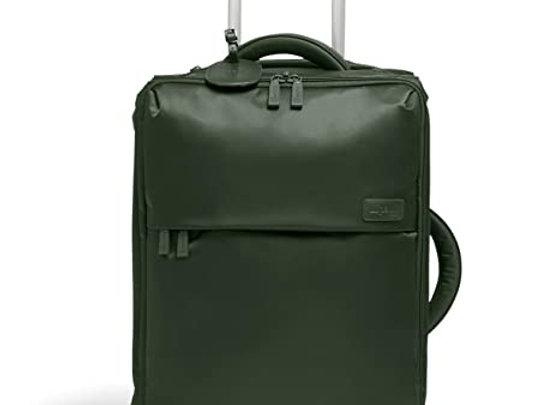 Lipault Foldable Upright Carry-On 20 Rolling Bag Khaki