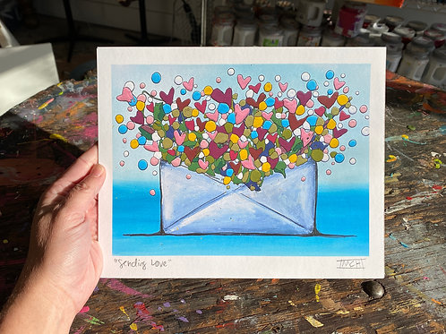"""""""Sending Love"""" fine art print"""