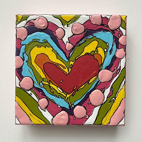 """Bold Heart, no.4"" original art on canvas"