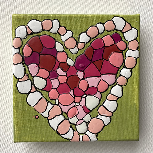 """Candy Heart Necklace, no.2"" original art on canvas"