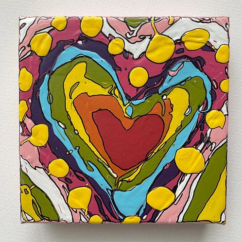"""Bold Heart, no.2"" original art on canvas"