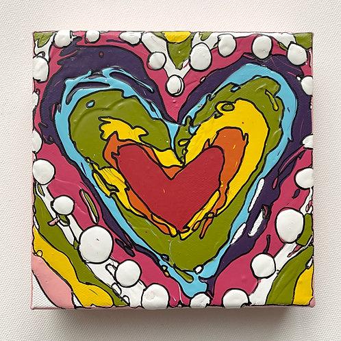 """Bold Heart, no.1"" original art on canvas"