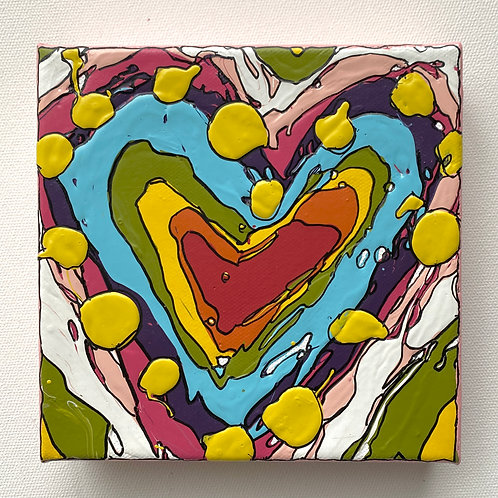 """Bold Heart, no.3"" original art on canvas"