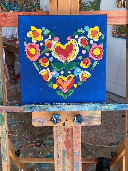 """Blooming Love, no.1"" original art on canvas"