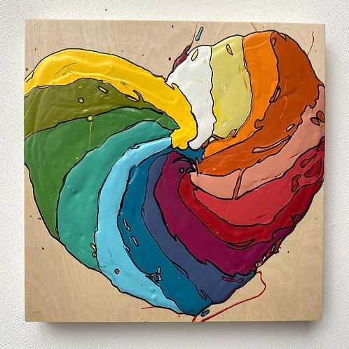 """Hypnotizing Love"" original art on cradled wood"