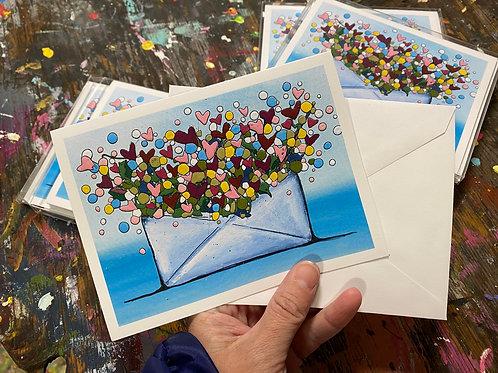 """""""Sending Love""""  4x6"""" folded notecards"""