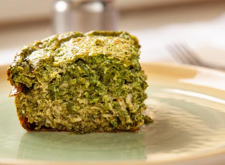 Quiche de espinafre sem massa (low carb, sem glúten e keto)