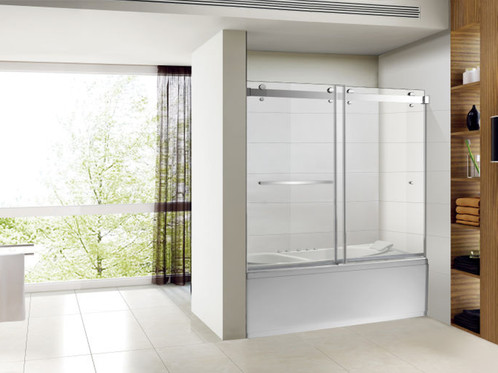 Sp Series 56 In To 60 In X 65 In Frameless Sliding Tub Doors