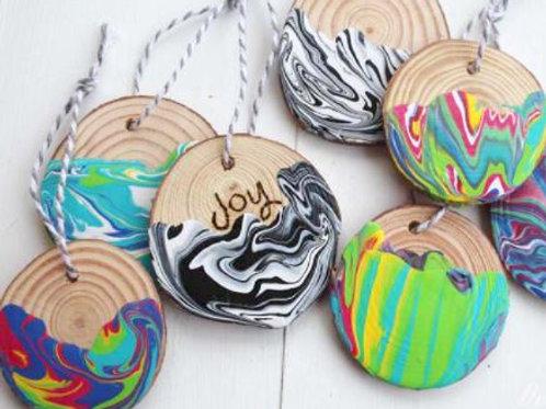 Pour & Swirl Ornaments (Set of 12)