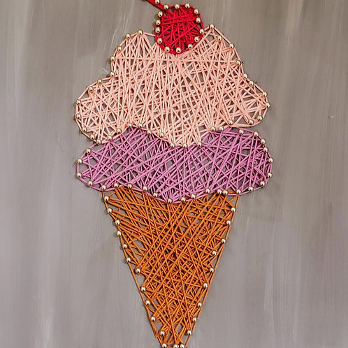 Ice Cream Cone String Art