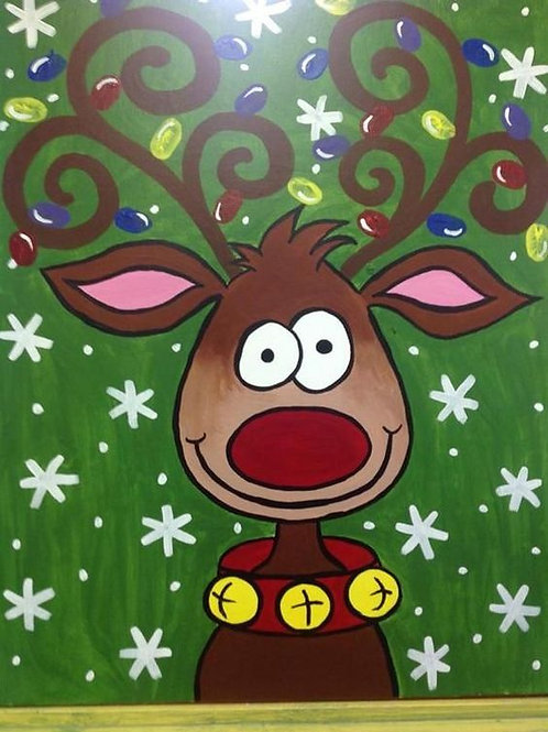Holiday Reindeer Painting