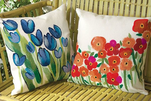 Painted Garden Pillow