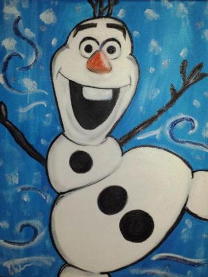 Happy Snowman Painting
