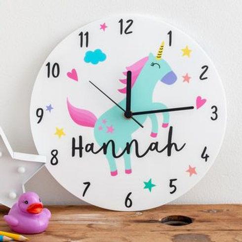 Personalized Unicorn Clock
