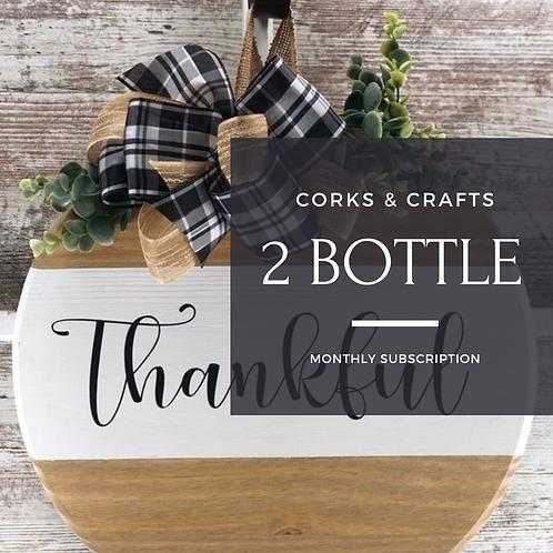 Cork & Crafts 2 Bottle Monthly