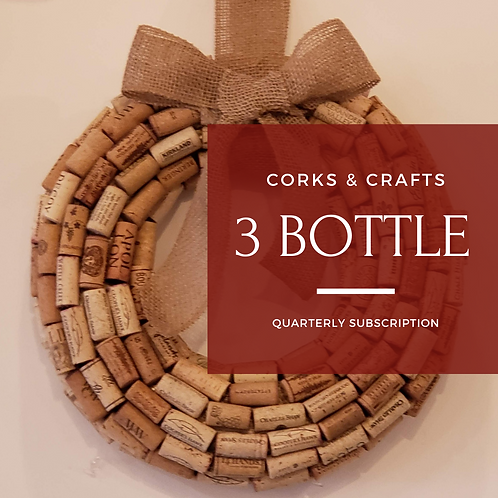 Corks & Crafts 3 Bottle Quarterly