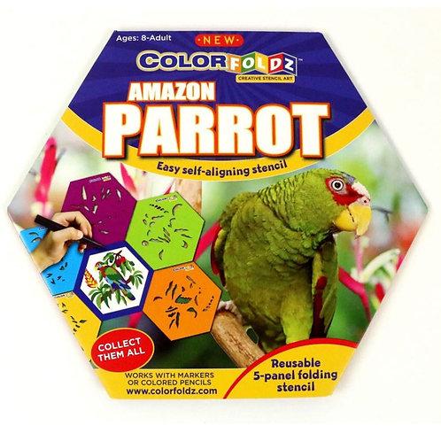 Parrot Stencil Art