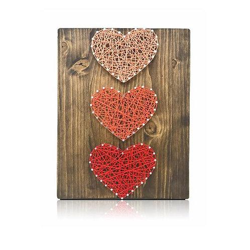 Mini Hearts String Art