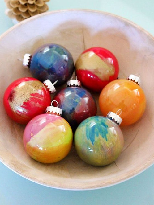 Poured Ornaments (Set of 12)