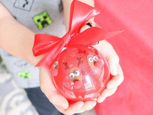 Fingerprint Reindeer Ornaments (Set of 6/12))