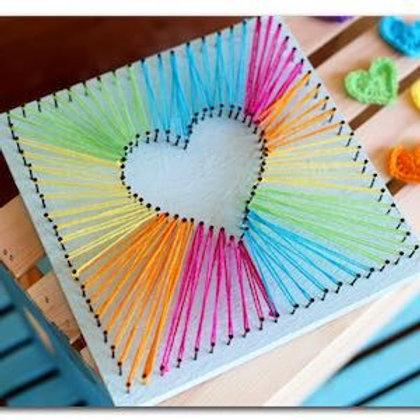 Heart String Art (kids)