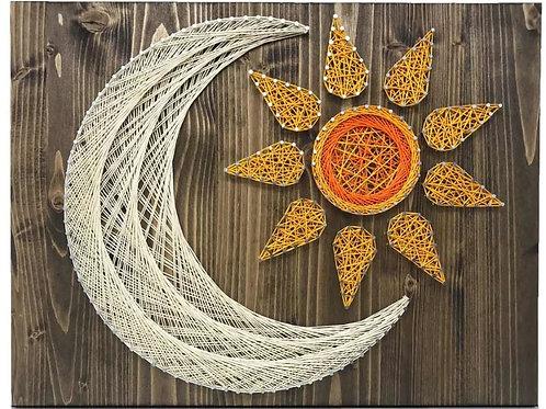 Sun & Moon String Art