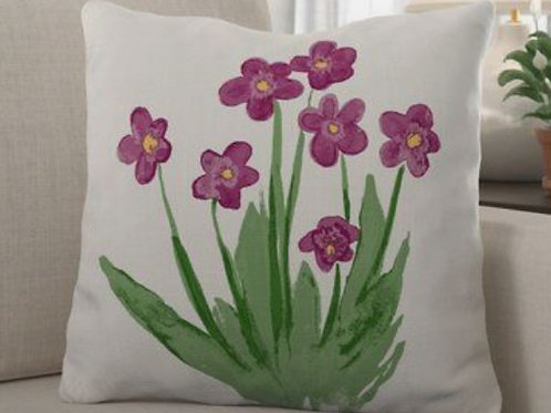 Painted Flower Pillow