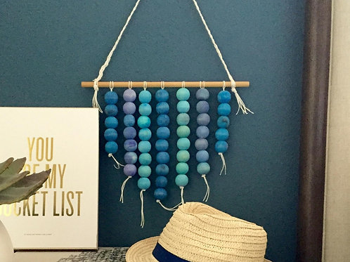 Wood Bead Wall Hanging