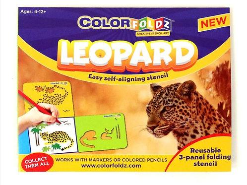 Leopard Stencil Art